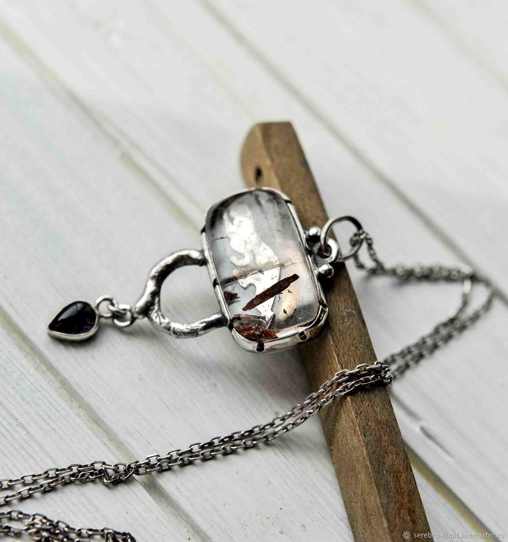 Серебро с натуральными камнями потом