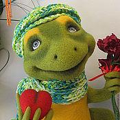 Куклы и игрушки ручной работы. Ярмарка Мастеров - ручная работа войлочный лягушонок Жан. Handmade.
