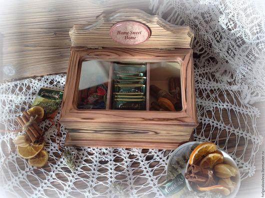 """Шкатулки ручной работы. Ярмарка Мастеров - ручная работа. Купить Шкатулка со стеклом """"Для домашних мелочей"""". Handmade. Комбинированный"""