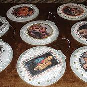 Посуда ручной работы. Ярмарка Мастеров - ручная работа елочные шары и магнитики. Handmade.
