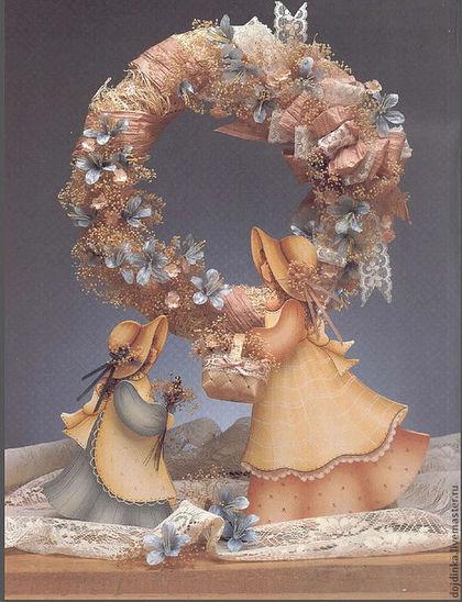 Две интерьерные куклы из массива дерева (ольха) толщиной 2 см. ручная роспись акриловыми красками