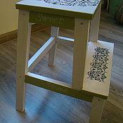 Для дома и интерьера ручной работы. Ярмарка Мастеров - ручная работа Табуретка-стремянка  Ажурная. Handmade.