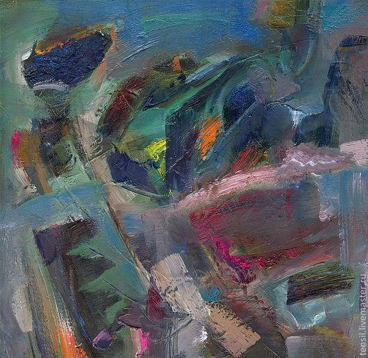 Абстракция ручной работы. Ярмарка Мастеров - ручная работа. Купить мелодия синего облака. Handmade. Тёмно-фиолетовый, облако, мелодия
