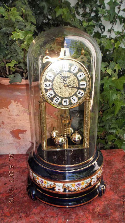 Часы для дома ручной работы. Ярмарка Мастеров - ручная работа. Купить Старинные часы Haller, Германия. Основание - Лимож. РАРИТЕТ. ВИНТАЖ.. Handmade.