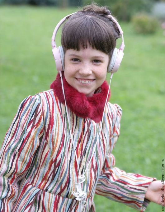 Одежда для девочек, ручной работы. Ярмарка Мастеров - ручная работа. Купить Пальто нарядное на осень для мисс 7-8 лет. Handmade.