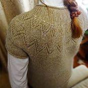 Одежда ручной работы. Ярмарка Мастеров - ручная работа Безрукавка с ажурной круглой кокеткой. Handmade.
