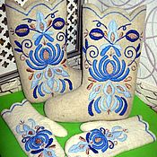 Обувь ручной работы handmade. Livemaster - original item Boots with embroidery