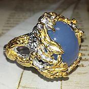 Украшения handmade. Livemaster - original item Golden Scorpion ring with sapphirine. Handmade.