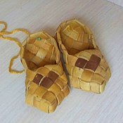 Souvenirs3 handmade. Livemaster - original item Souvenir shoes made of birch bark large range. Handmade.