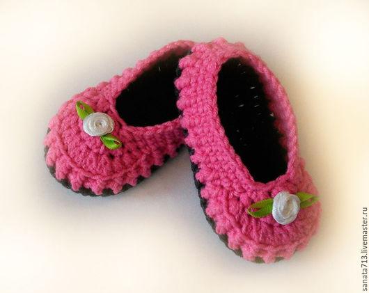 Детская обувь, пинетки туфельки, пинетки, пинетки вязаные, обувь ручной работы, обувь для дома, обувь, детские пинетки, пинетки для девочек