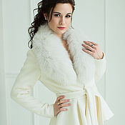 Свадебный салон handmade. Livemaster - original item Bridal jacket, Kamilla, Wedding coat, Winter wedding coat. Handmade.