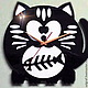 """Часы для дома ручной работы. Ярмарка Мастеров - ручная работа. Купить Часы """"Сытый кот"""". Handmade. Кот, часы для кухни"""