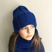 Аксессуары ручной работы. Ярмарка Мастеров - ручная работа Комплект шапка и снуд Blue pumpkin. Handmade.