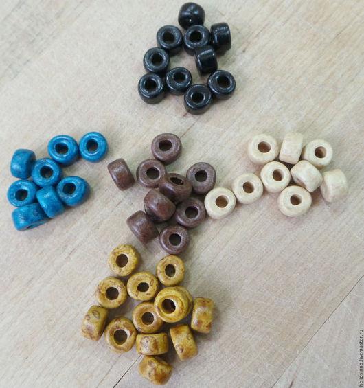 Для украшений ручной работы. Ярмарка Мастеров - ручная работа. Купить Керамические бусины рондели, разные цвета. Handmade. Керамика
