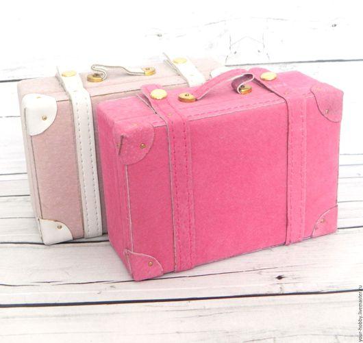 Куклы и игрушки ручной работы. Ярмарка Мастеров - ручная работа. Купить Большой чемодан для кукол. Handmade. Бледно-розовый