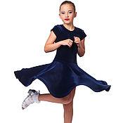 Платья ручной работы. Ярмарка Мастеров - ручная работа Рейтинговое платье для спортивно бальных танцев. RE Бархат. Handmade.