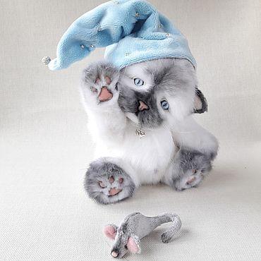 Куклы и игрушки ручной работы. Ярмарка Мастеров - ручная работа Тедди котёнок. Handmade.
