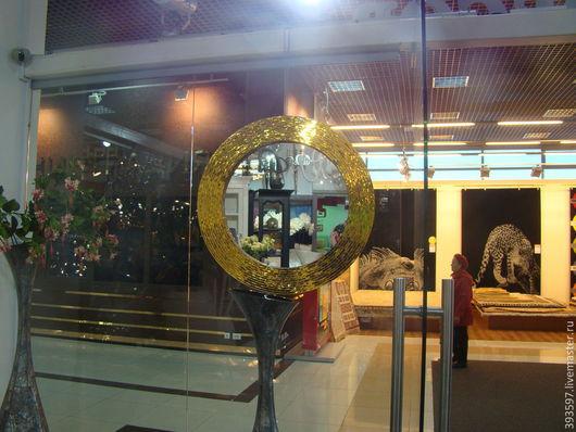 Зеркала ручной работы. Ярмарка Мастеров - ручная работа. Купить Зеркало в мозаичной раме, золотое сияние. Handmade. Золотой