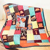 """Для дома и интерьера ручной работы. Ярмарка Мастеров - ручная работа одеяло """"Джентльмен"""". Handmade."""