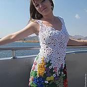 Платья ручной работы. Ярмарка Мастеров - ручная работа платье МАКИ. Handmade.