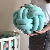 Подушки ручной работы. Ярмарка Мастеров - ручная работа Подушка узел, цветочек, косичка. Handmade.
