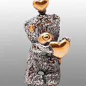 "Pendants handmade. Livemaster - original item Silver pendant ""Teddy Bear"". Handmade."
