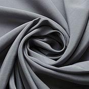 Материалы для творчества ручной работы. Ярмарка Мастеров - ручная работа Крепдешин шелковый серый. Handmade.