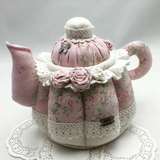 Кухня ручной работы. Ярмарка Мастеров - ручная работа. Купить Текстильный чайник. Чайный домик.. Handmade. Чайный домик, подарок