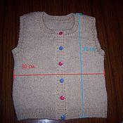 Работы для детей, ручной работы. Ярмарка Мастеров - ручная работа Жилетка детская из козьей шерсти. Handmade.