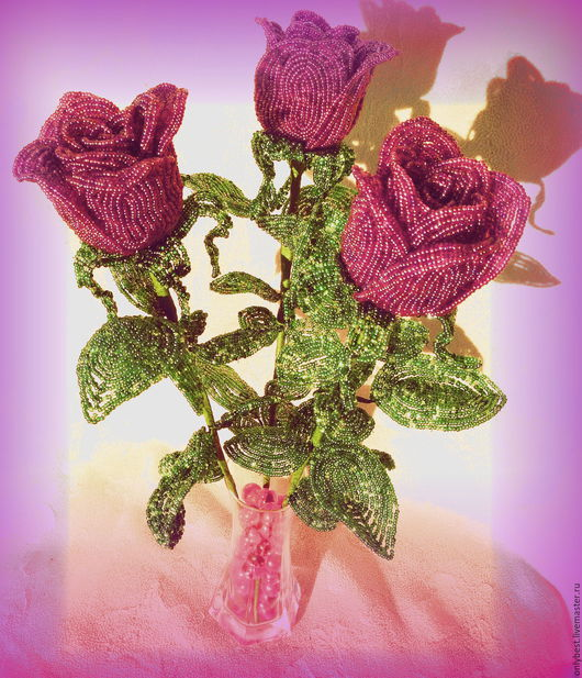 Букеты ручной работы. Ярмарка Мастеров - ручная работа. Купить розы бордо. Handmade. Бордовый, красота, любимой женщине