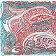 """Абстракция ручной работы. Ярмарка Мастеров - ручная работа. Купить """"Во имя... """". Handmade. Репродукция, смешанная техника"""