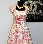 """Одежда ручной работы. Ярмарка Мастеров - ручная работа Ретро платье в стиле 50-х """"Пальмовая ветвь. Handmade."""