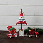 Сувениры и подарки handmade. Livemaster - original item Set of textile toys 5 pieces) Gift for the New year. Handmade.