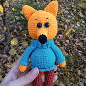 Куклы и игрушки handmade. Livemaster - original item Knitted Fox Cub in sweater and pants. Handmade.
