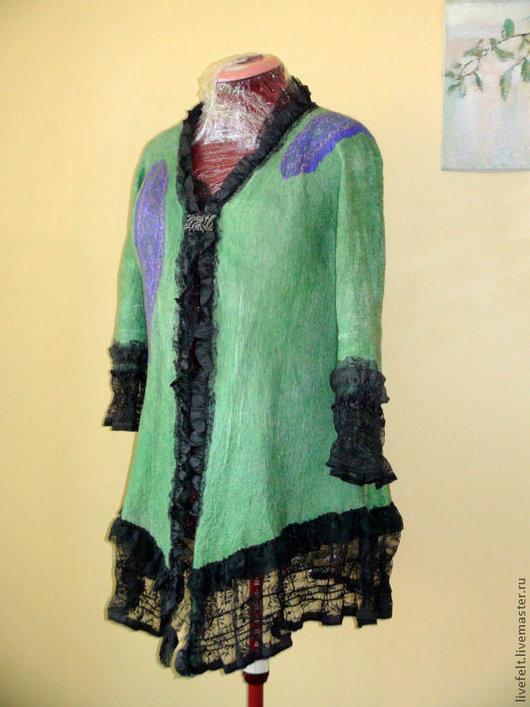 Пиджаки, жакеты ручной работы. Ярмарка Мастеров - ручная работа. Купить Валяный шерстяной  жакет  2 в 1. Handmade. Жакет