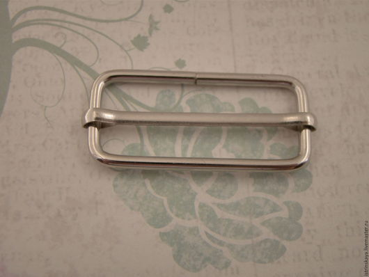 Другие виды рукоделия ручной работы. Ярмарка Мастеров - ручная работа. Купить Регулятор ремня 38мм никель. Handmade. Серебряный