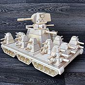 Куклы и игрушки handmade. Livemaster - original item KV-44 tank made of wood. Handmade.