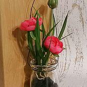 Композиции ручной работы. Ярмарка Мастеров - ручная работа Ранункулюсы - композиция в стекле. Handmade.