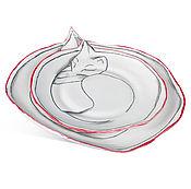 """Посуда ручной работы. Ярмарка Мастеров - ручная работа набор тарелок """"Коты"""". Handmade."""