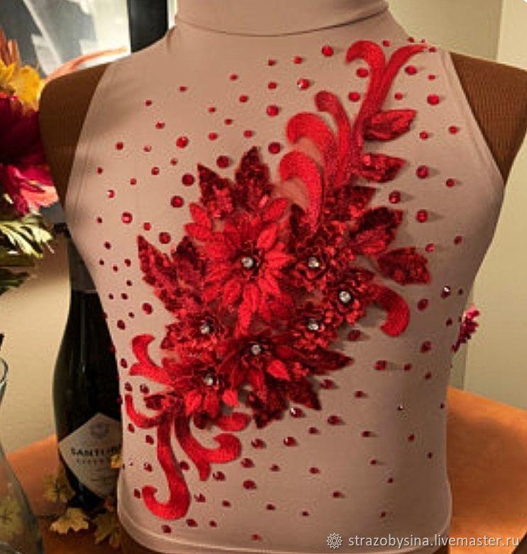 Кружевная вышивка Красный цвет, Аппликации, Санкт-Петербург,  Фото №1