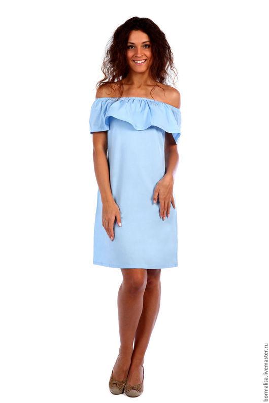 """Платья ручной работы. Ярмарка Мастеров - ручная работа. Купить Платье """"Caramellе"""". Handmade. Бледно-сиреневый, платье с воланом, голубой"""