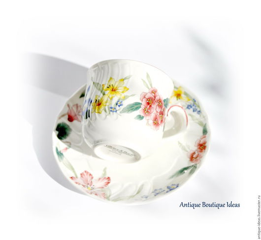 Винтажная посуда. Ярмарка Мастеров - ручная работа. Купить Villeroy&Boch Кофейная пара. Handmade. Антиквариат, винтажный стиль, чайная чашка