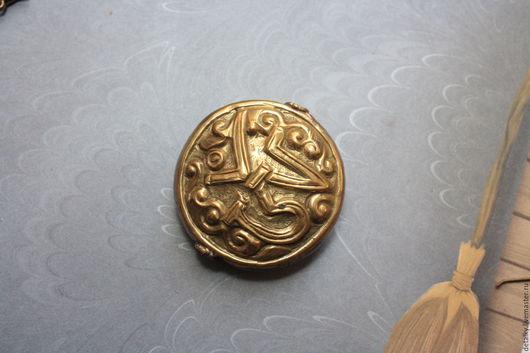 """Для украшений ручной работы. Ярмарка Мастеров - ручная работа. Купить Бусина большая латунная """"Тибет""""  36 мм. Handmade."""