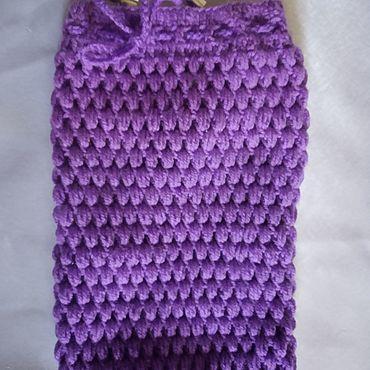 Аксессуары ручной работы. Ярмарка Мастеров - ручная работа Футляр для планшета 7` вязаный фиолетовый. Handmade.