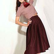"""Одежда ручной работы. Ярмарка Мастеров - ручная работа Топ трикотажный розовый """"Фламенко"""". Handmade."""