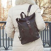 Сумки и аксессуары handmade. Livemaster - original item Backpack womens brown leather Renata Fashion SR31-122. Handmade.