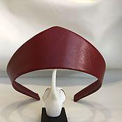 Русский стиль handmade. Livemaster - original item Kokoshnik RIPE CHERRY from eco-leather. Handmade.