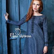 Одежда handmade. Livemaster - original item Gray. Felted dress.. Handmade.