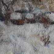 Картины и панно ручной работы. Ярмарка Мастеров - ручная работа Зимние сумерки, войлок. Handmade.