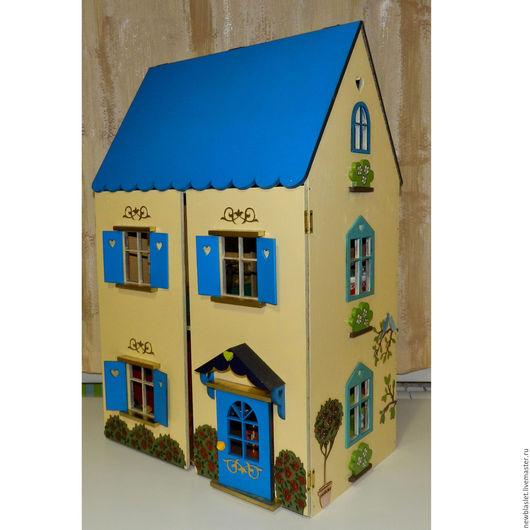 Кукольный дом ручной работы. Ярмарка Мастеров - ручная работа. Купить Кукольный домик (неокрашенный). Handmade. Кукольный домик, подарок